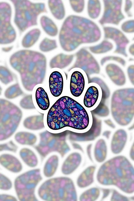 Paw Print Sticker | Dog Sticker | Pet Sticker | Animal Sticker | Dog Owner Sticker | Fur Baby Sticker | MacBook Sticker | Cute Sticker