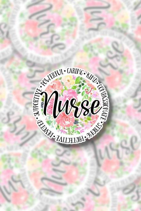 Nurse Sticker | Healthcare Sticker | Healthcare Hero Sticker | RN Sticker | LPN Sticker | Nursing Student Sticker | Laptop Sticker