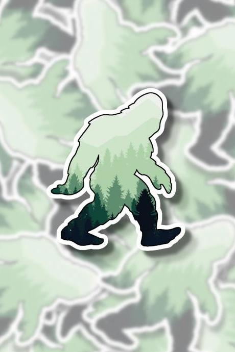 Yeti Sticker | Hiking Sticker | Landscape Sticker | Forest Sticker | Hydro Flask Sticker | Planner Sticker | Tumbler Sticker