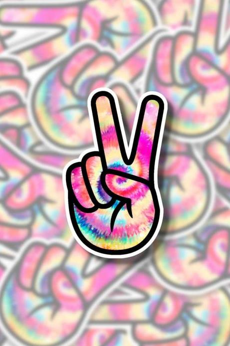 Tie Dye Peace Sign Sticker | Hippie Sticker | Cool Sticker | Small Gift | Water Bottle Sticker | Tumbler Sticker | Hydro Flask Sticker