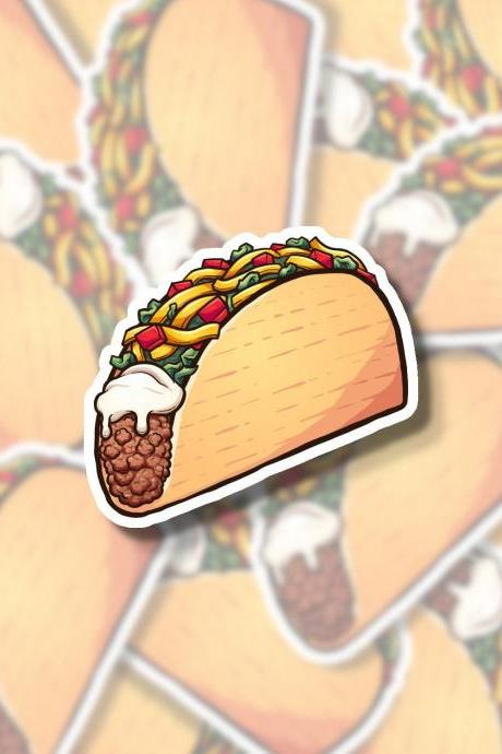 Taco Sticker | Taco Tuesday Sticker | Food Sticker | Mexican Sticker | Water Bottle Sticker | Tumbler Sticker | Hydro Flask Sticker