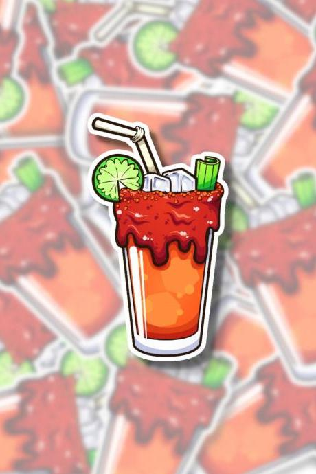 Michelada Sticker | Bloody Mary Sticker | Alcohol Sticker | Vodka Sticker | Water Bottle Sticker | Tumbler Sticker | Hydro Flask Sticker