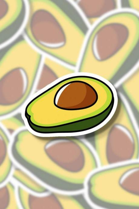 Avocado Sticker | Fruit Sticker | Vegetable Sticker | Food Sticker | Water Bottle Sticker | Tumbler Sticker | Hydro Flask Sticker