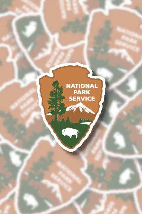 National Park Service Sticker | NPS Sticker | Hiking Sticker | Outdoor Sticker | Laptop Sticker | Water Bottle Sticker | Planner Sticker