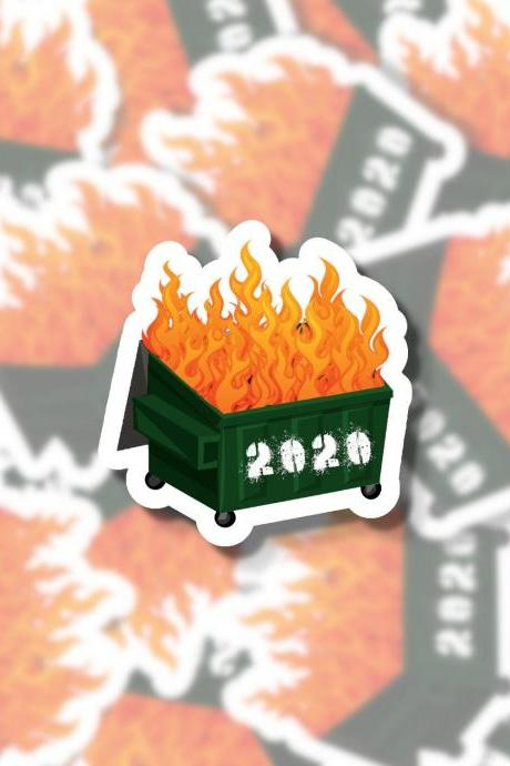 2020 Dumpster Fire Sticker | 2020 Sucks | Dumpster Sticker | Funny Sticker | Water Bottle Sticker | Laptop Sticker | Planner Sticker