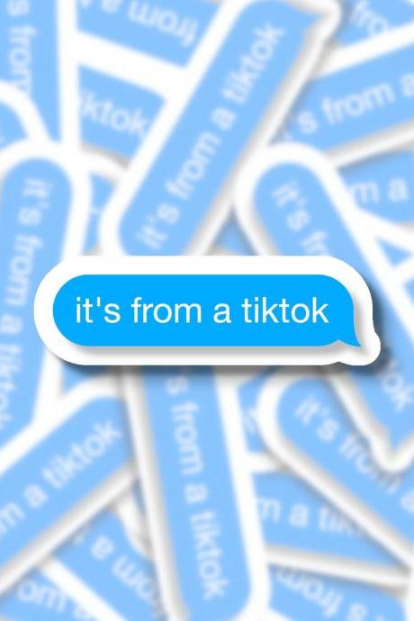 Tiktok Sticker | Iphone Sticker | iMessage Sticker | Text Message Sticker | Water Bottle Sticker | Laptop Sticker | Planner Sticker