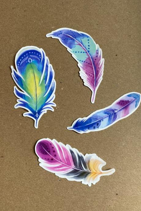 Feather Sticker Pack | Sticker Pack | Feather Sticker | Laptop Sticker | Water Bottle Sticker | Planner Sticker | Tumbler Sticker