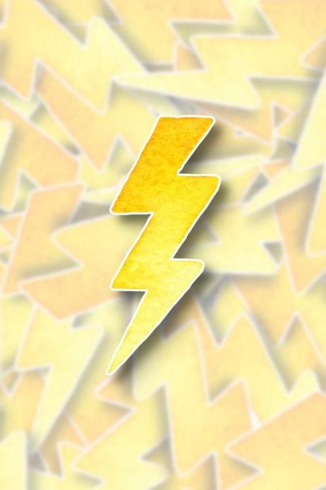 Lightning Bolt Sticker Decal | Lightning Sticker Decal | Weather Sticker Decal | Outdoor Sticker Decal | Water Bottle Sticker Decal